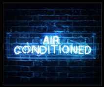 Air Conditioned Neon Sign
